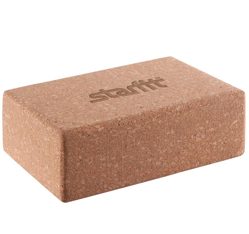 Блок для йоги STAR из пробки (0,45 кг, 7,8 см, 22,5 см, 15 см) блок для йоги star из eva 0 3 кг 7 8 см 22 5 см фиолетовый 15 см