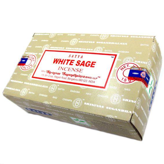 Благовония белый шалфей Сатья серия incense / White sage Satya (15 г) благовония аджаро сатья аjaro satya 45 г