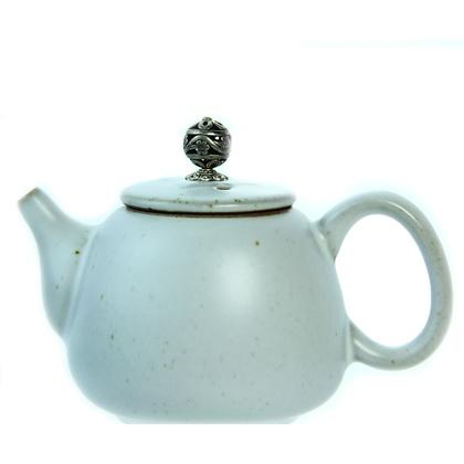 Чайник серо-голубой (керамика) 250 мл (200 г, мл)