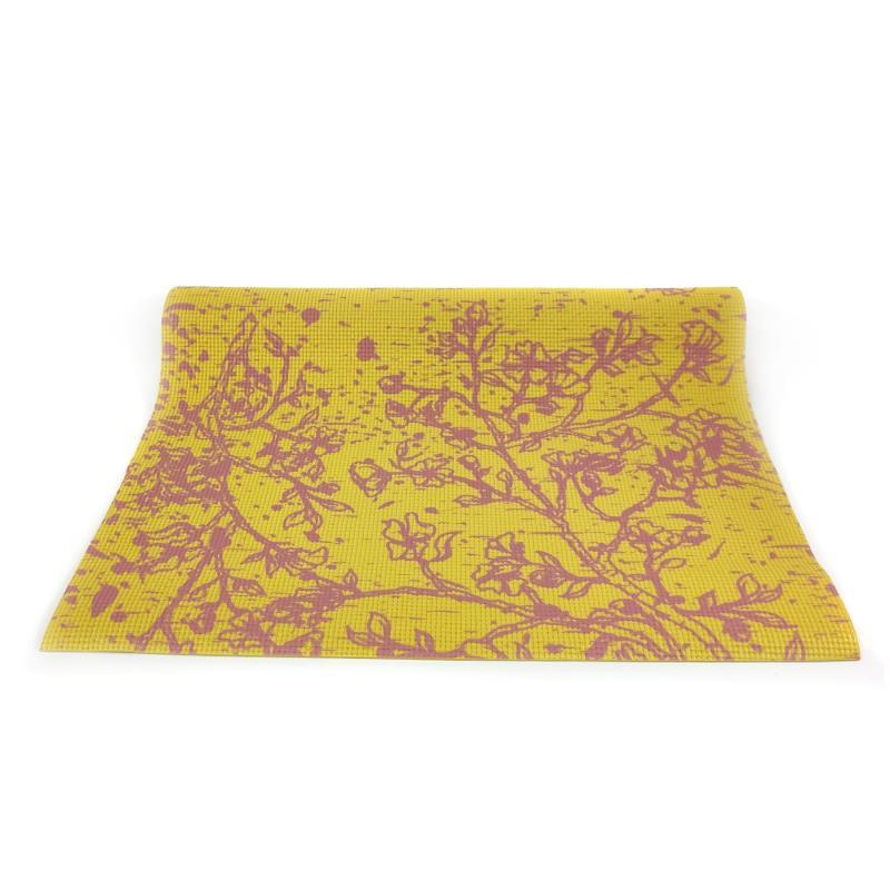 Коврик для йоги Yellow Flowers 5mm (173 см 1.1 кг ассорти 60 см 5 мм) коврик для йоги yoga star 8мм 173 см 8 мм синий 60 см