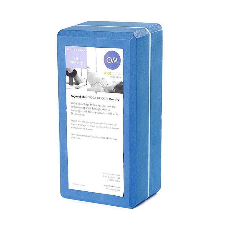 Кирпич для йоги из EVA-пены Yoga brick ( AKO-yoga синий 0,3 кг 7 см 22 см 11 см ) цены