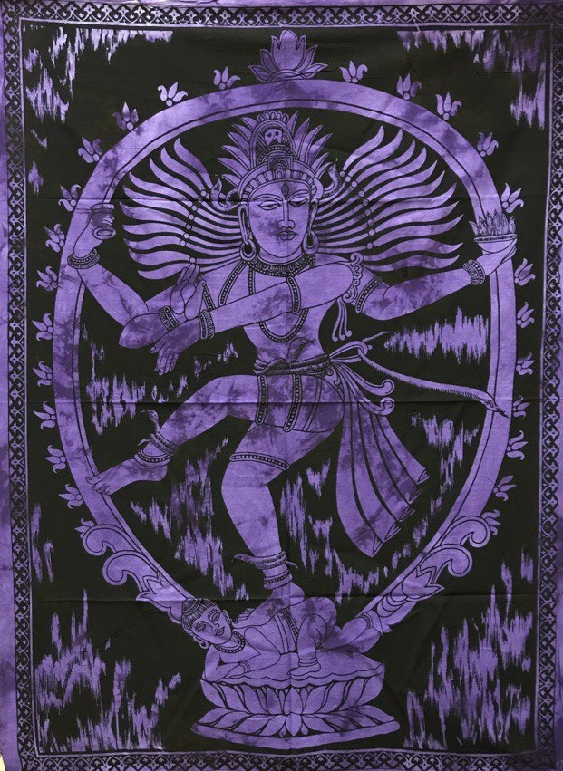 Панно тканевое шива натарадж фиолетовый фон 80х107см (фиолетовый)