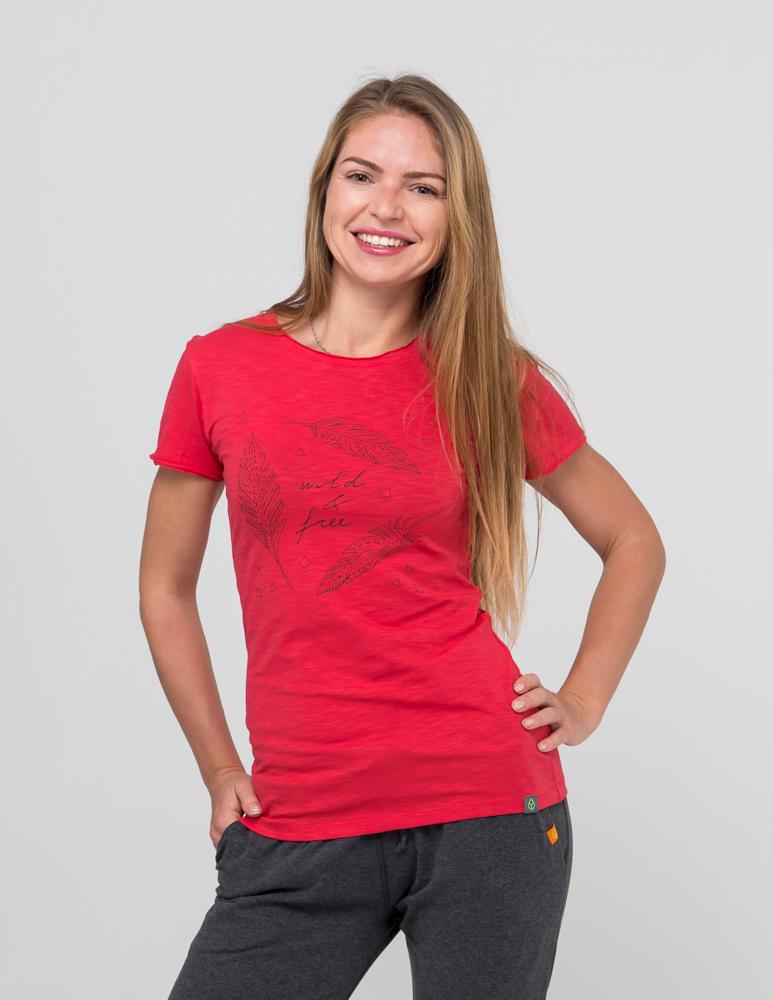 Футболка женская Wild & Free YogaDress (0,3 кг, L (46-48), красный) леггинсы гоа yogadress m 48 светло фиолетовый