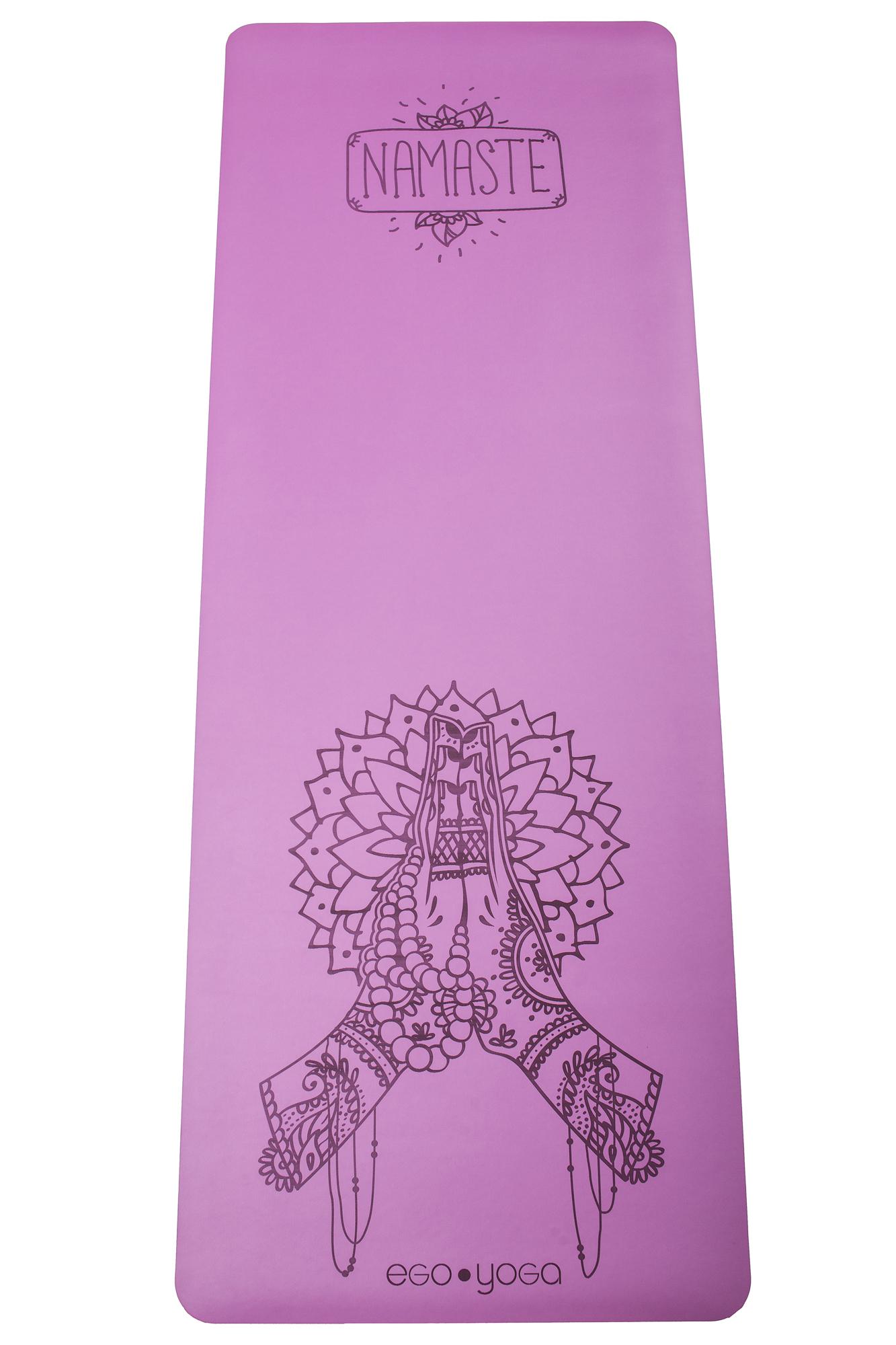 Коврик для йоги Namaste EGOyoga из полиуретана и каучука (3 кг, 185 см, 4 мм, фиолетовый, 68см) joerex yoerex йога коврики новички спортивные подушки 10 мм утолщение расширяющийся нескользящий фитнес коврик jbd50551 фиолетовый