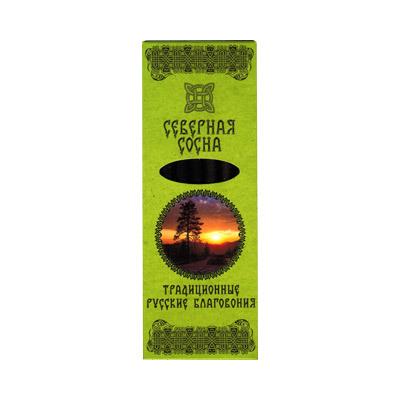 Благовония северная сосна русские (0,05 кг, 7 шт) русские благовония северная сосна плоская пачка 7 палочек подставка