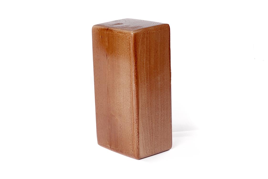 для йоги премиум лакироанный (1 кг, 8 см, 23 см, коричнеый, 11 см)