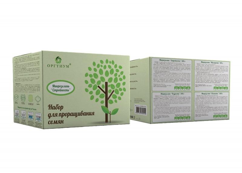 Проращиватель для семян + Микс Стройность (Люцерна,капуста,пажитник,редис,семена темного льна), ОРГТ (100 г)