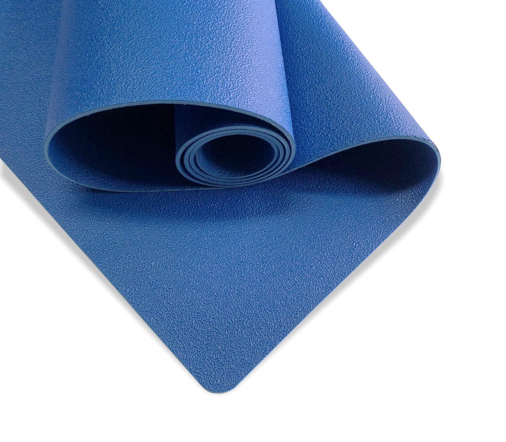Коврик для йоги Revolution PRO 4мм (1.7 кг, 185 см, 4 мм, синий, 60см) коврик для йоги samurai marbled 4мм из каучука 2 3 кг 185 см 4 мм фиолетовый 60см