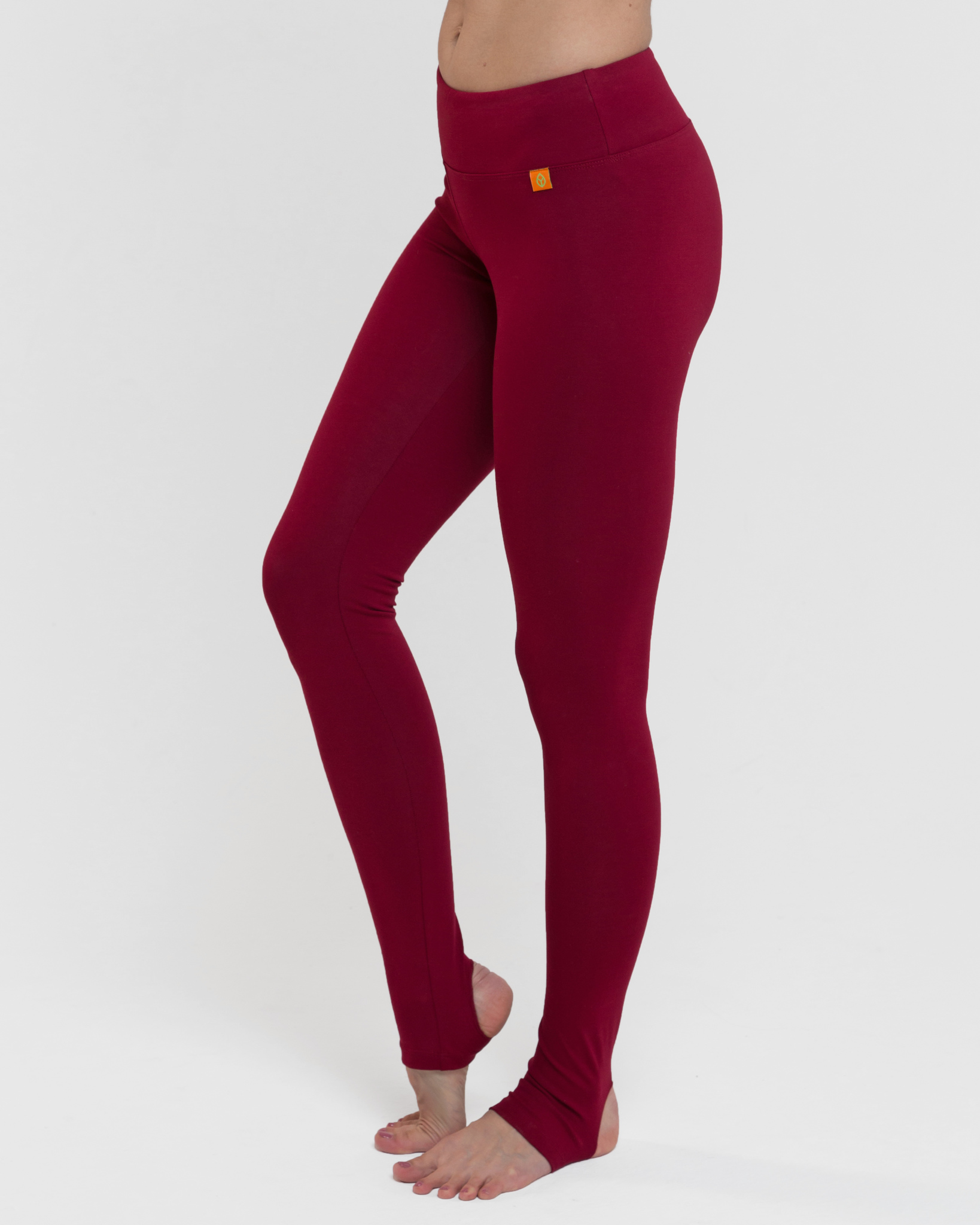 Тайтсы женские c открытой пяткой Miss Incredible бордовые YogaDress (0,2 кг, XS (42), бордо) тайтсы 3 4 kalenji мужские 3 4 тайтсы для бега run dry