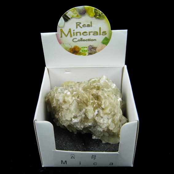 Слюда (mica) минерал/камень в коробочке Real Minerals Collection турмалин минерал камень в коробочке real minerals collection