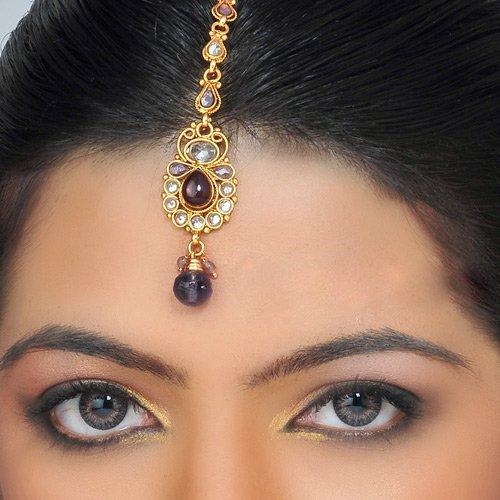 Тика (Тикка, Мангтикка) Индийское украшение для волос место где можно купить индийское сари