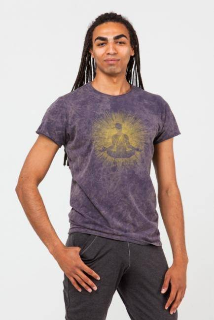 Футболка мужская Медитация YogaDress (L (50), серый (графит))