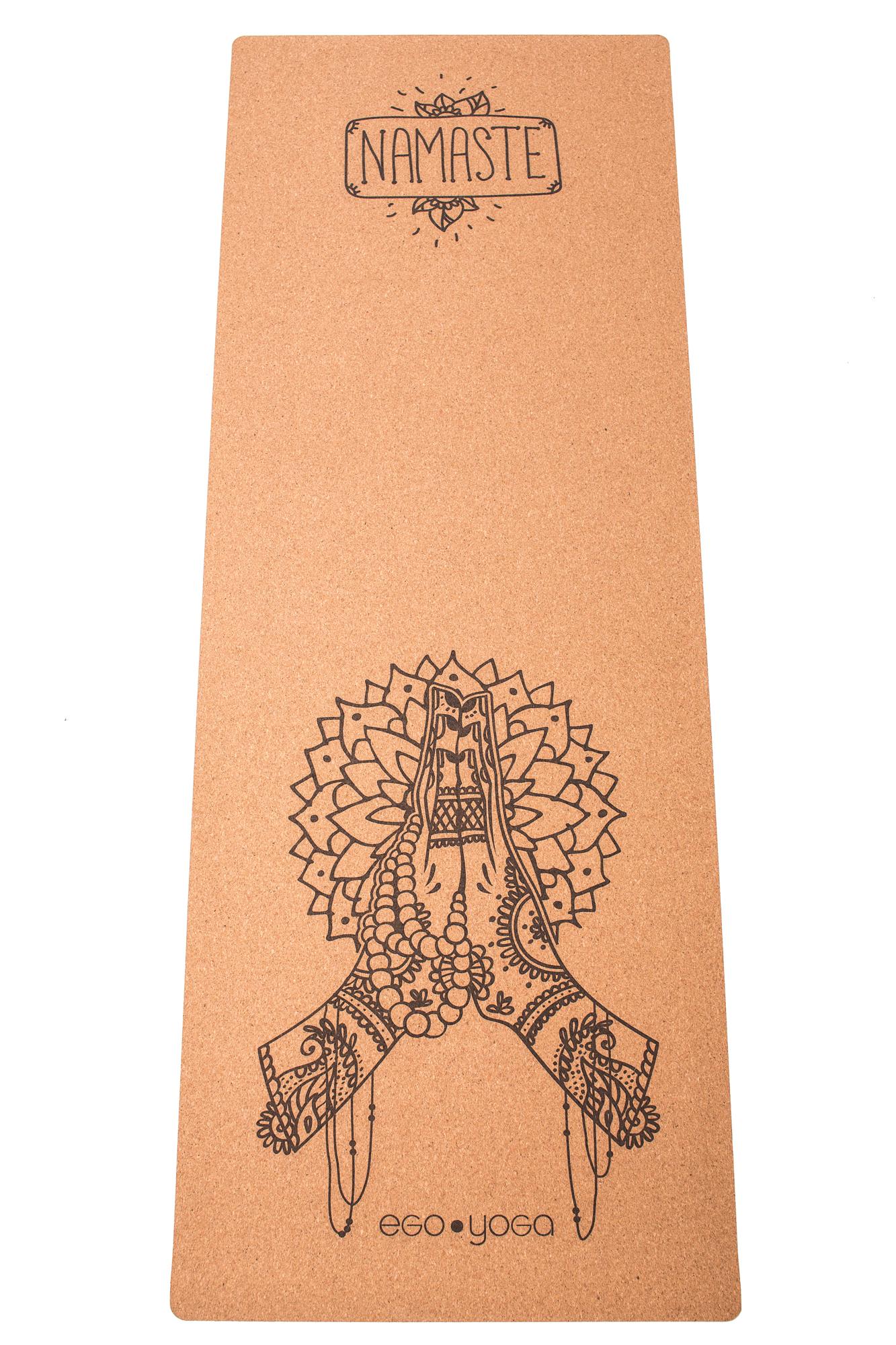 Коврик йоги Namaste EGOyoga и каучука (2.7 кг, 185 см, 4 мм, бежевый, 66см)