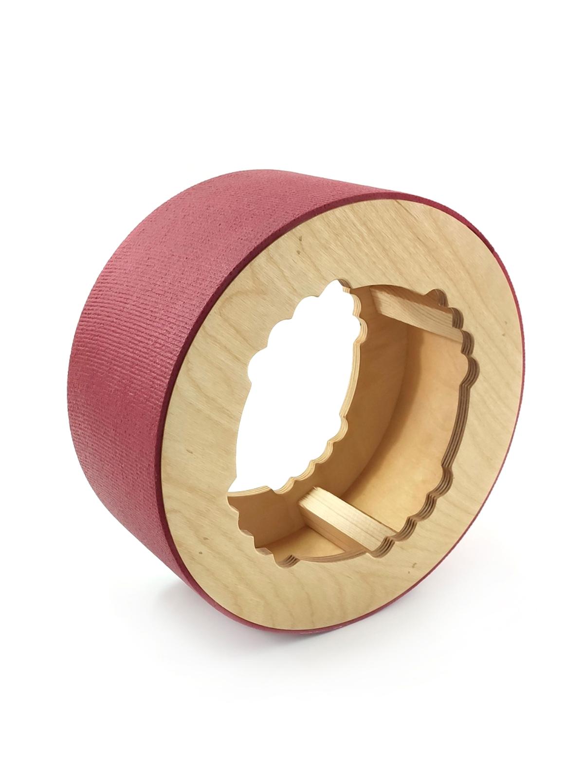 Йога колесо Лотос 32 см (1.5 кг, 32 см, бордовый, 13 см)