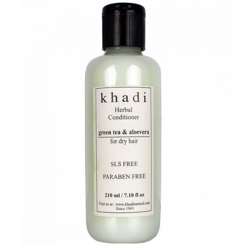 все цены на Кондиционер для волос зеленый чай алоэ вера без слс и парабенов Khadi Natural (210 мл) онлайн