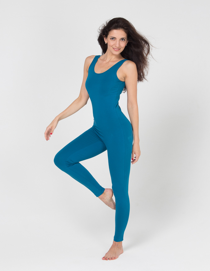 Комбинезон для йоги и фитнеса Miss Incredible YogaDress (0,3 кг, XS(42), голубой  морская волна)