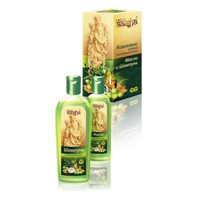 Комплекс против выпадения волос масло и шампунь Aasha Herbals