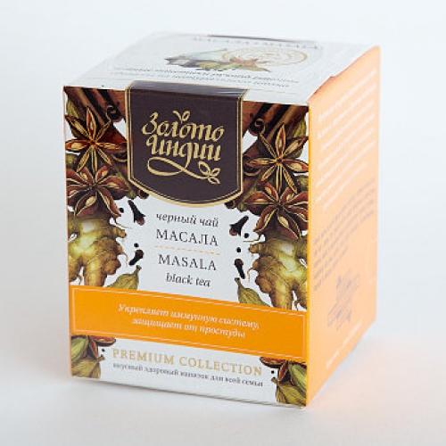 Чай черный даржилинг масала в пакетиках Золото Индии (15шт*3г)
