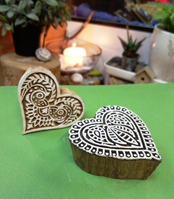 Печать трафарет Сердце для татуировки хной 6см (6см)