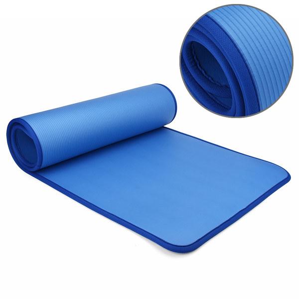 Коврик для йоги и фитнеса NBR 60 см с кантом 1 см (0,9 кг, 183 см, 1 см, синий, 61 см) коврик для йоги и фитнеса nbr go do 1 см 183 см 1 см черный 60 см