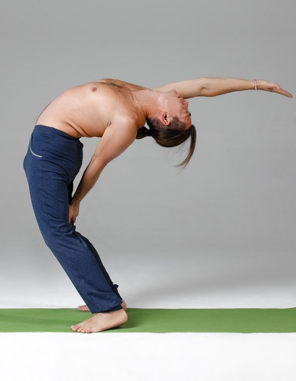 Штаны мужские пауэр YogaDress (0,3 кг, XL (52), темно-синий  меланж)