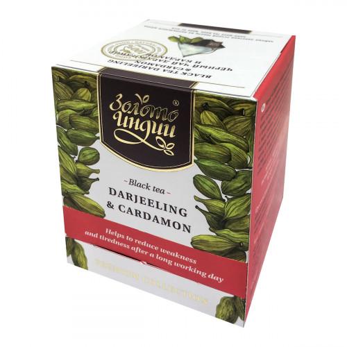 Чай черный даржилинг с кардамоном в пакетиках Золото Индии (15шт*3г) булка коломенское булочки сдобные с кардамоном 200 г