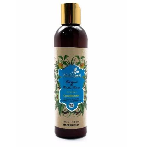 Кондиционер для волос кокос жасмин Khadi Organic ( Khadi 250 мл ) кондиционер для волос с арабским жасмином и могрой indian khadi