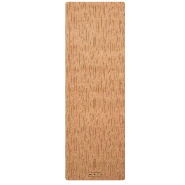 Коврик для йоги Lines YC из пробки и каучука (2.5 кг, 185 см, 3 мм, бежевый, 60см) цена