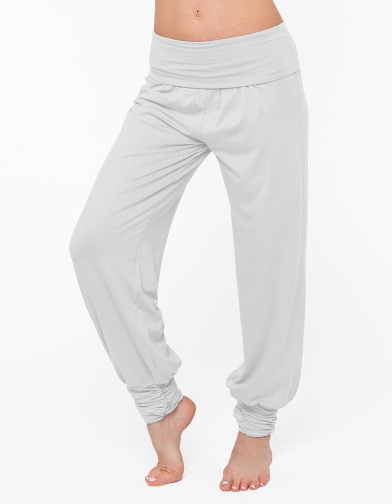 Штаны- гаремы длинные YogaDress (0,3 кг, L (46-48), белый) штаны гаремы длинные yogadress l 46 48 серо голубой