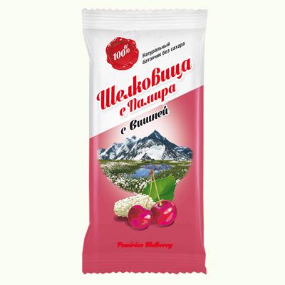 Батончик из шелковицы с вишней, 20 г candy king шоколадные камешки лакричные конфеты в какао посыпке 100 г