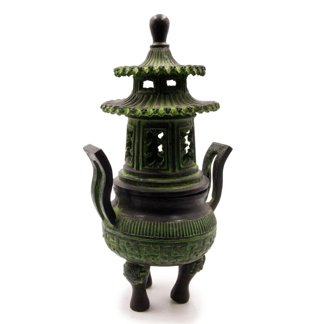 Курительница бронзовая пагода для санга 27см (1 кг)