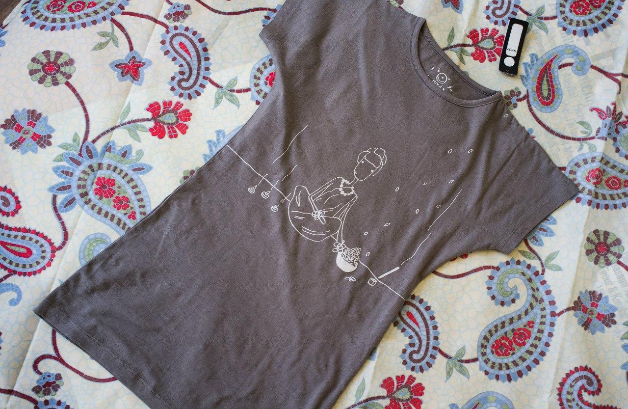 Футболка женская Meditation iSoul (XL (48-50), серый) футболка женская meditation isoul xl 48 50 серый