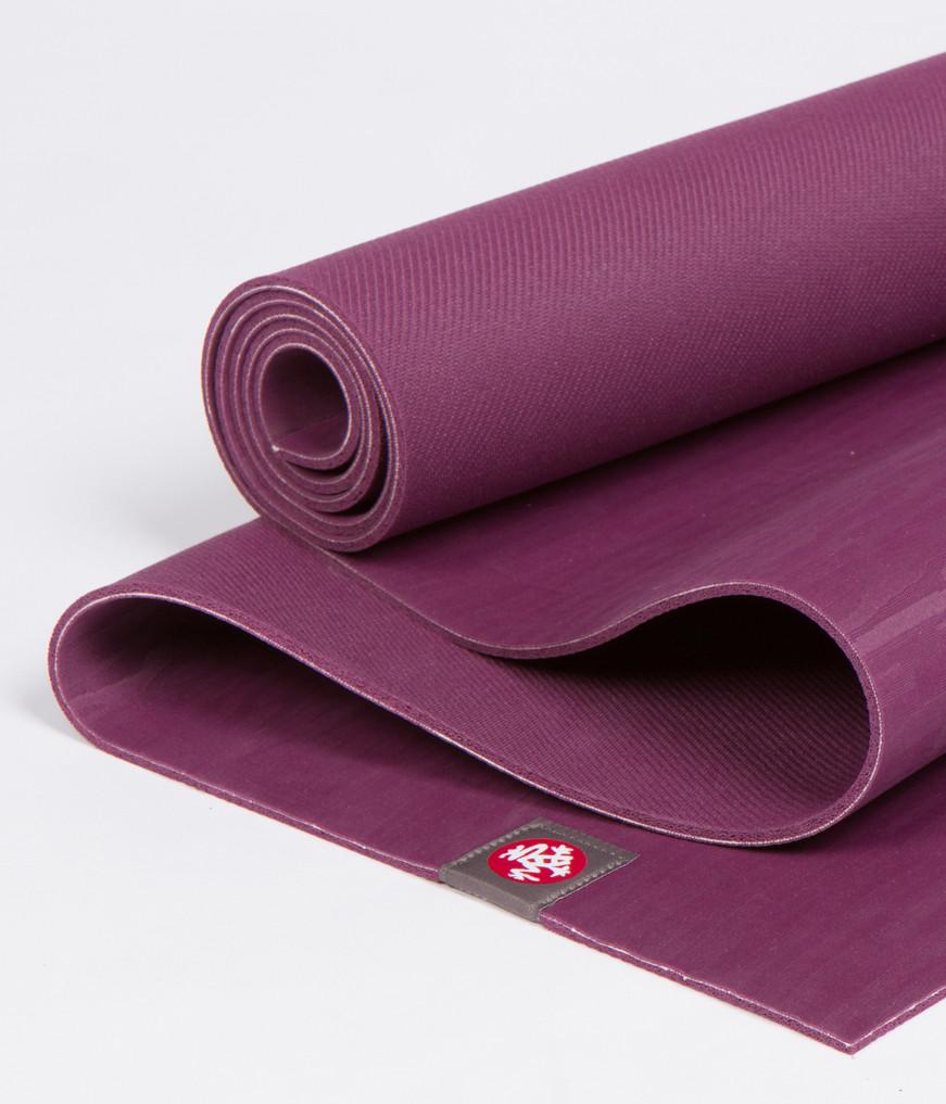 Коврик для йоги Manduka EKO Lite Mat 4мм из каучука (2,2 кг, 180 см, 4 мм, сиреневый, 61см (Acai))