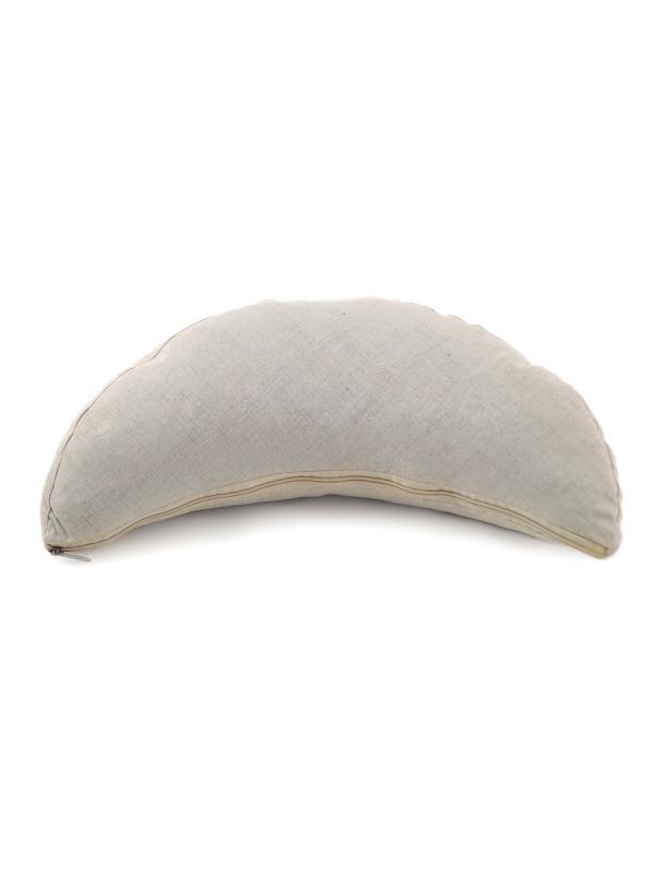 Йога-подушка для медитации полумесяц Лен Рамайога (1.2 кг, бежевый) подушка для медитации simple 2 5 кг зеленый