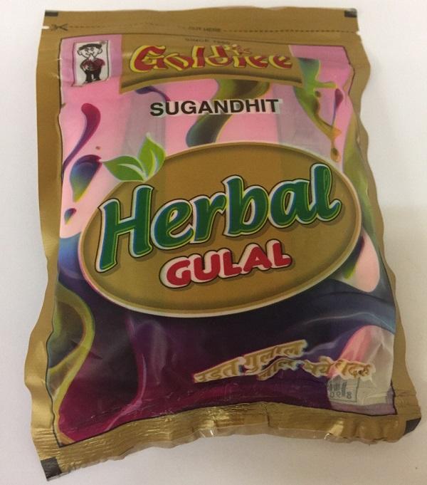 цены Краски гулал Herbal Gulal органические натуральные для праздника Холи (Holi) 100г Goldiee