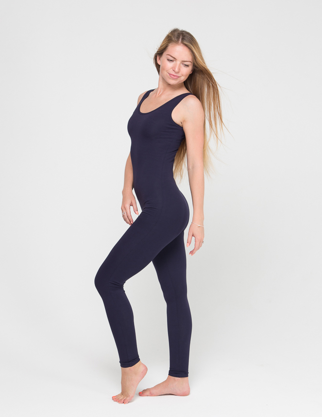 Комбинезон для йоги и фитнеса Miss Incredible YogaDress (0,3 кг, S(44), темно-синий)