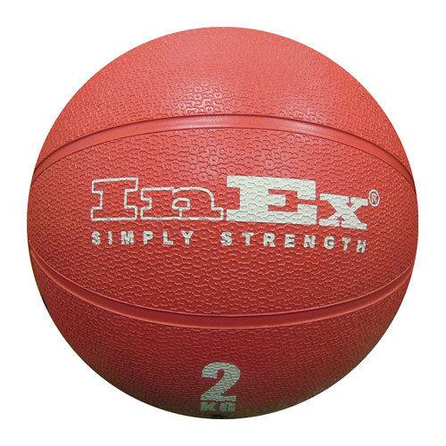 Мяч медицинский набивной Medicine Ball INEX (2 кг, 19.5 см, красный)