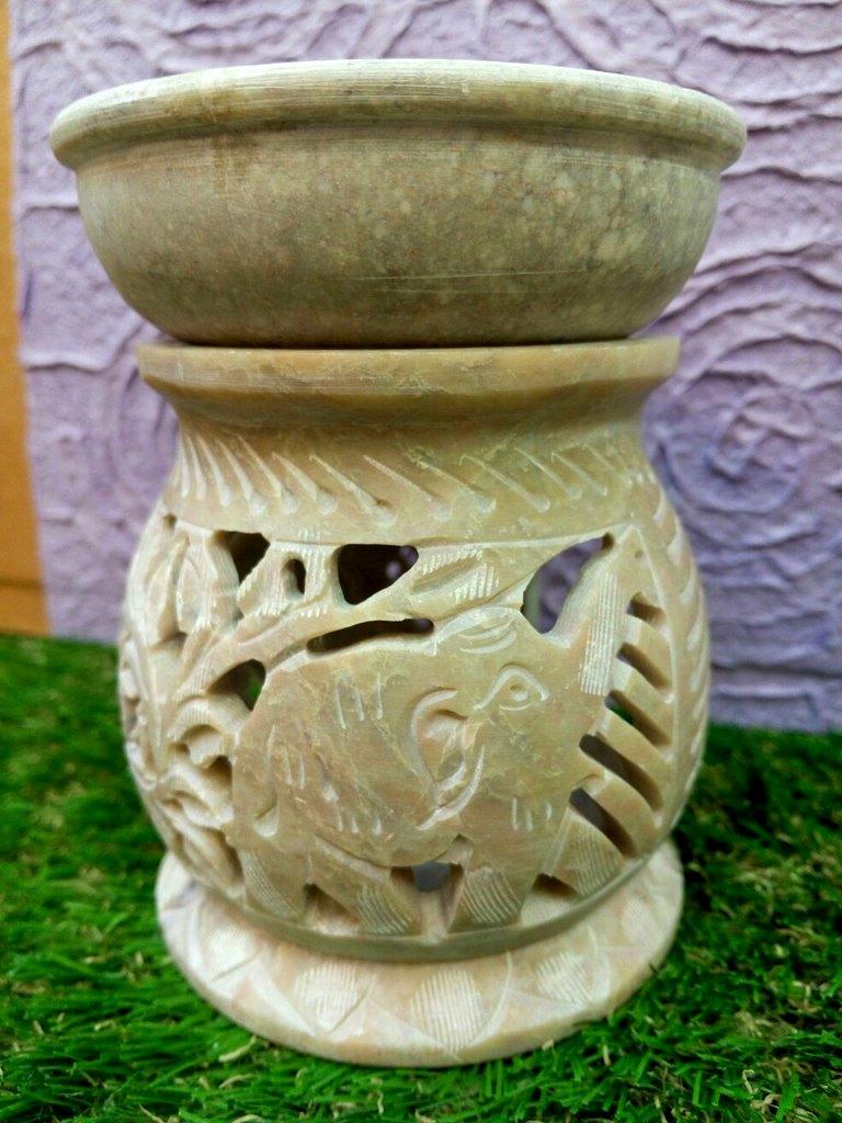 цены Аромалампа каменная Калькутта, большая 11,5 см (большая)