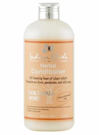 Кондиционер для волос черная ваниль и мед Indian Khadi (300 мл) биокрин для волос купить