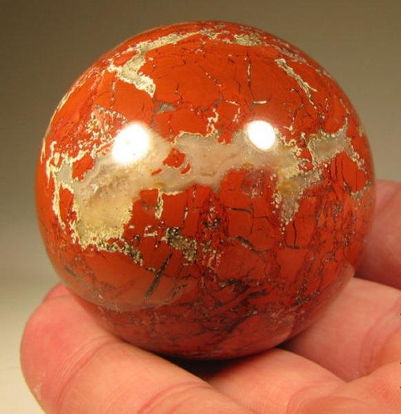 Яшма Шар для массажа из минерала (камня) 3см (яшма)