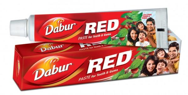 Красная зубная паста Dabur