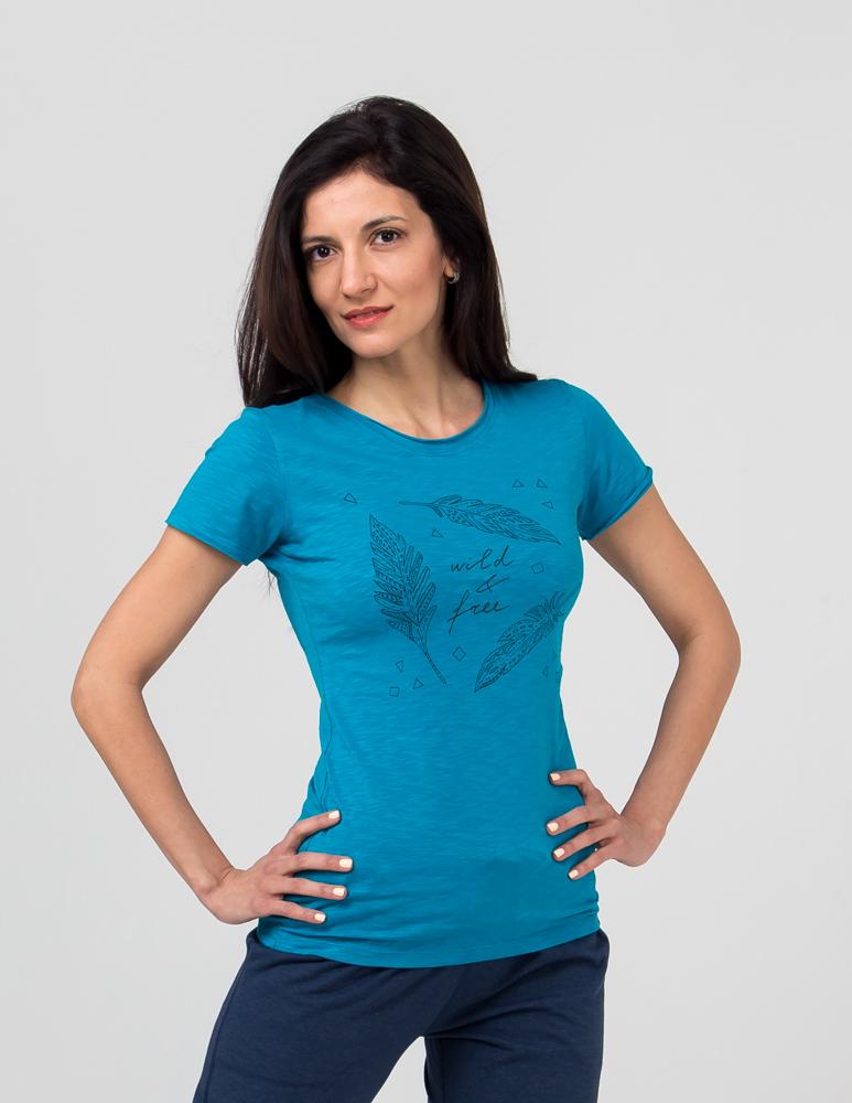 Футболка женская Wild & Free YogaDress ( YogaDress бирюзовый 0,3 кг 42-44 ) женская одежда для спорта