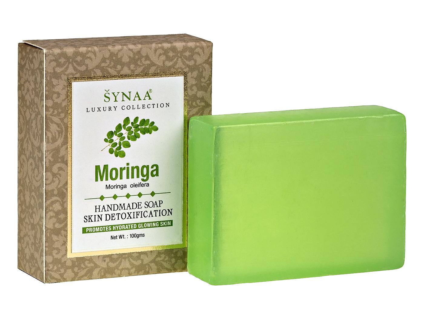 Мыло ручной работы Моринга Synaa (100 г) мыло угольное детокс