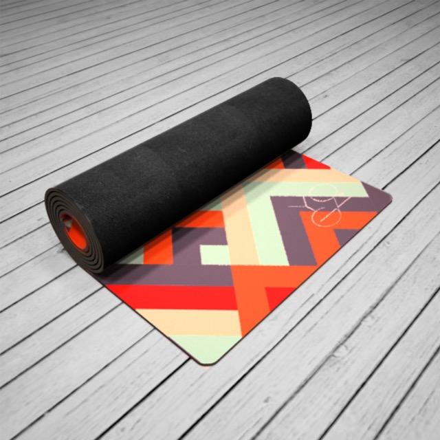 Коврик для йоги Morocco ID из микрофибры и каучука (2.5 кг, 175 см, 3 мм, ассорти, 61см) цена