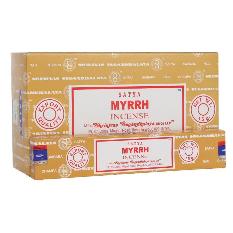 Благовония Мирра Сатья серия incense / Myrrh Satya (15 г) благовония масала мирра myrrh masala hem 0 05 кг 15 г