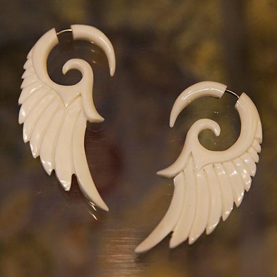 Серьги крылья ангела из кости 6см ( белый ) mymei женская мода посеребренные украшения крылья ангела кристалл стержня уха серьги