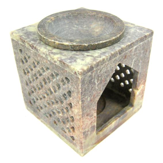 Аромалампа каменная квадратная 7 см (L054-03) аромалампа индонезийская ручной росписи керамическая 12см 12 см