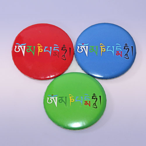 Магнит мантра Ом Мани Падме Хум 5,5 см (Магнит SIM-07 мантра Ом Мани Падме Хум 5,5см)