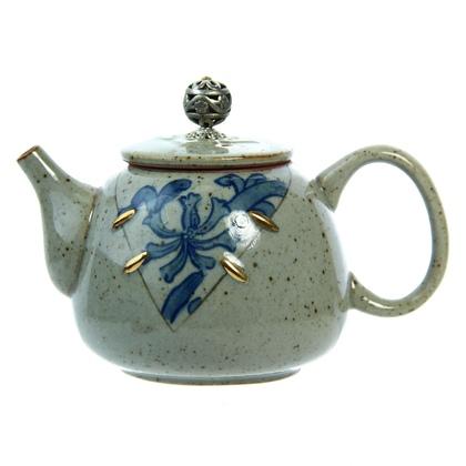 Чайник серо-зеленый (керамика) 250 мл (200 г, мл)