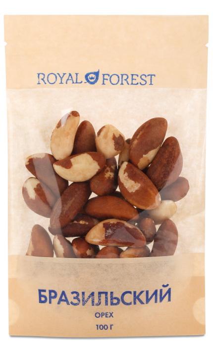 Бразильский орех Royal Forest ( Royal Forest 100 г ) plastinki жевательная резинка ассорти 4 вкуса 60 пачек по 5 пластинок сфера